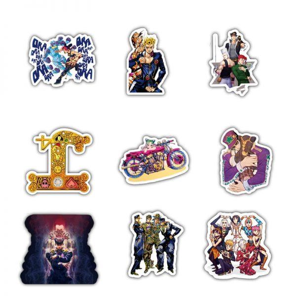 50pcs set Anime Jojo Bizarre Adventure Waterproof Sticker Cosplay Accessories Prop 3 - Jojo's Bizarre Adventure Merch