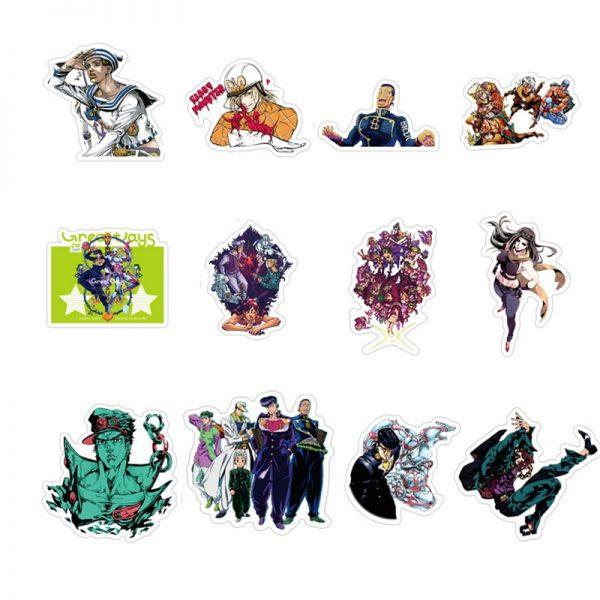 50pcs set Anime Jojo Bizarre Adventure Waterproof Sticker Cosplay Accessories Prop 4 - Jojo's Bizarre Adventure Merch