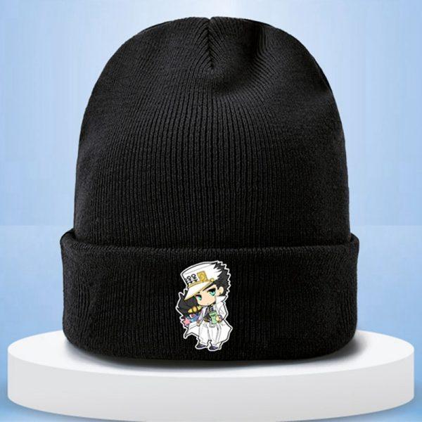 Anime JoJo s Bizarre Adventure Cosplay Cap Jotaro Kujo Hat Army Military JOJO Caps Knitting Hats 4 - Jojo's Bizarre Adventure Merch