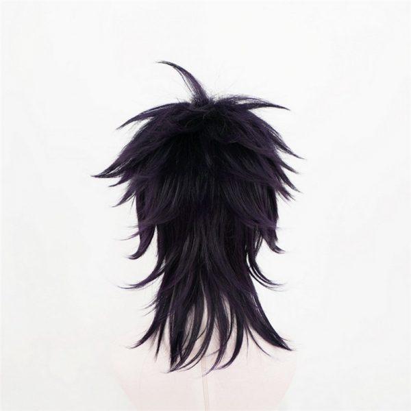 Anime JoJo s Bizarre Adventure Narancia Ghirga Cosplay Wigs Short Mix Black Purple Synthetic Hair For 3 - Jojo's Bizarre Adventure Merch