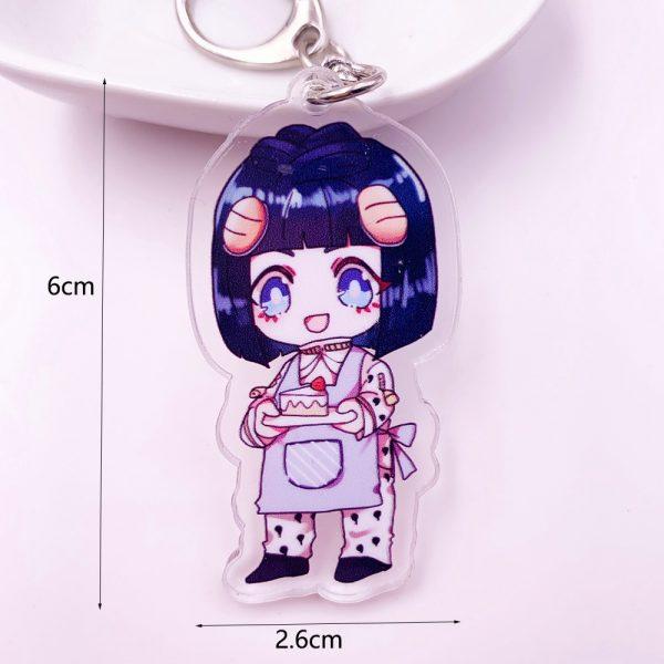 Anime JoJos Bizarre Adventure Acrylic Keychain Cartoon Jotaro Kujo Figure Keyring Gifts Key Holder Pendant Accessories 4 - Jojo's Bizarre Adventure Merch