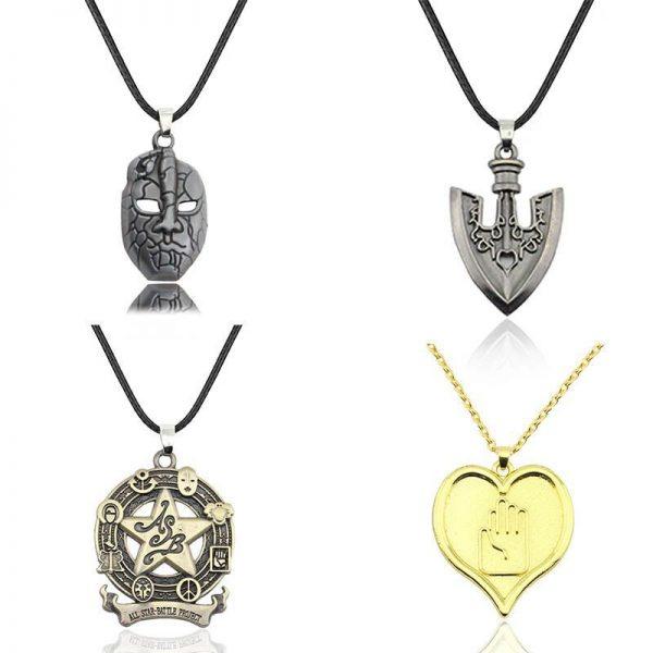 Anime jojo bizarre adventure Cosplay Necklace Kujo Jotaro Dio Brando Metal Jewelry Accessories - Jojo's Bizarre Adventure Merch