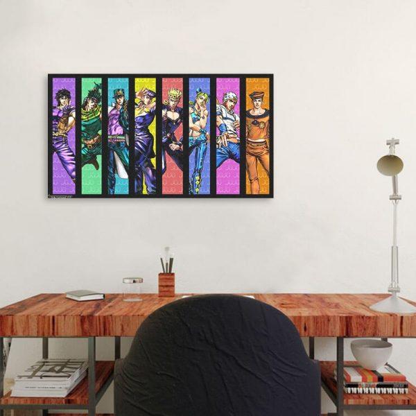 Home Decoration JoJo S Bizarre Adventure Painting Canvas Print Poster Modern Wall Art Anime Modular Picture 1 - Jojo's Bizarre Adventure Merch