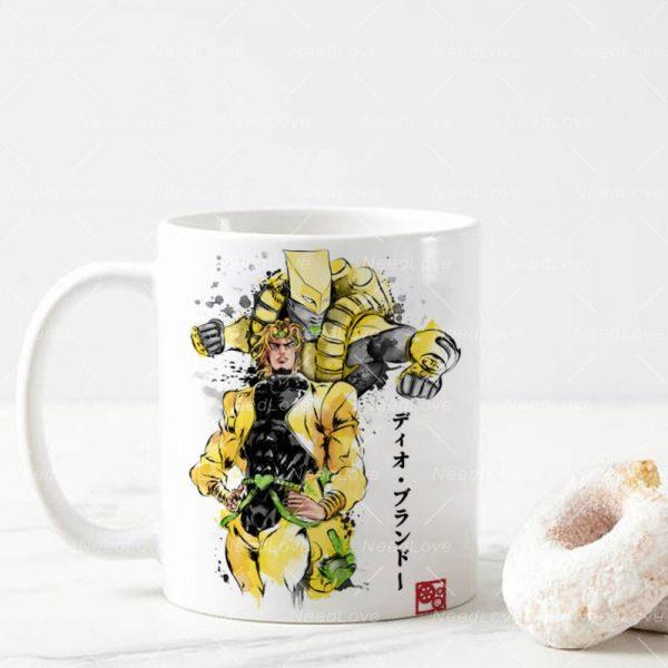 JOJO JoJo s Bizarre Adventure Ceramic 11 Oz White Coffee Mug 3 - Jojo's Bizarre Adventure Merch