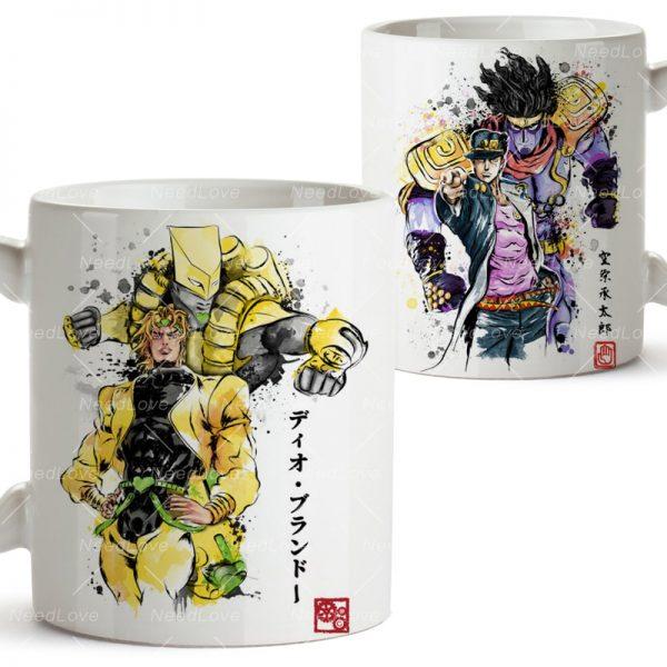 JOJO JoJo s Bizarre Adventure Ceramic 11 Oz White Coffee Mug - Jojo's Bizarre Adventure Merch