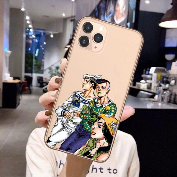 Anime JoJos Bizarre Adventure Phone Case for iPhone 12 Pro Cartoon Silicone Cover For iPhone 11 2 - Jojo's Bizarre Adventure Merch