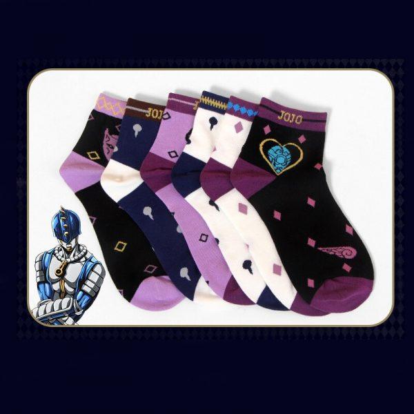 Anime Jojo Bizarre Adventure Sock Cosplay Prop Accessories Printed Cartoon Ankle Socks 2 - Jojo's Bizarre Adventure Merch
