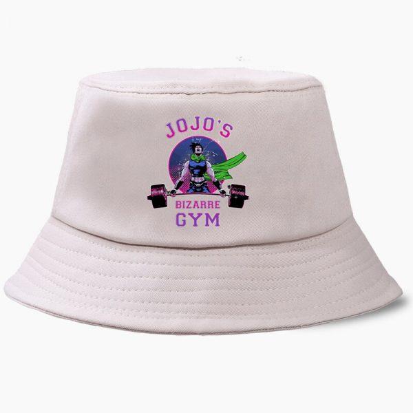 Bob JoJo Bizarre Adventure Anime JOJOs Bucket Hats Summer Mens Panama Women Fisherman Hat Cotton Black 1 - Jojo's Bizarre Adventure Merch