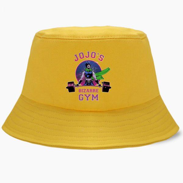 Bob JoJo Bizarre Adventure Anime JOJOs Bucket Hats Summer Mens Panama Women Fisherman Hat Cotton Black 2 - Jojo's Bizarre Adventure Merch
