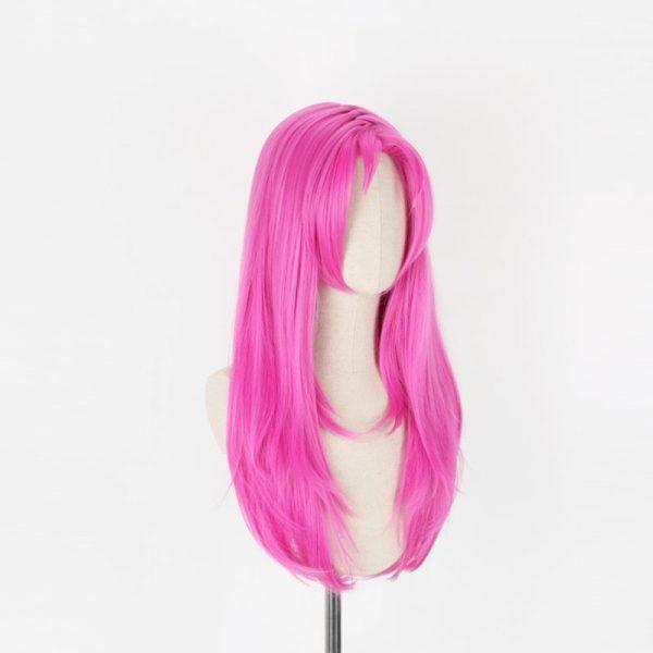 JOJO s Bizarre Adventure Golden Wind Diavolo Pink Long Wig Cosplay Costume Heat Resistant Synthetic Hair 1 - Jojo's Bizarre Adventure Merch