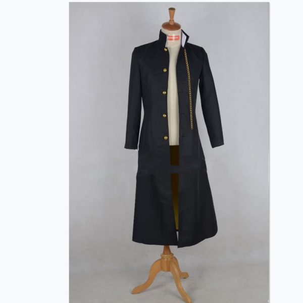 JoJo s Bizarre Adventure Jotaro Kujo Cosplay Costume Anime Black Coat Jacket Hat Halloween Party Outfits 2 - Jojo's Bizarre Adventure Merch