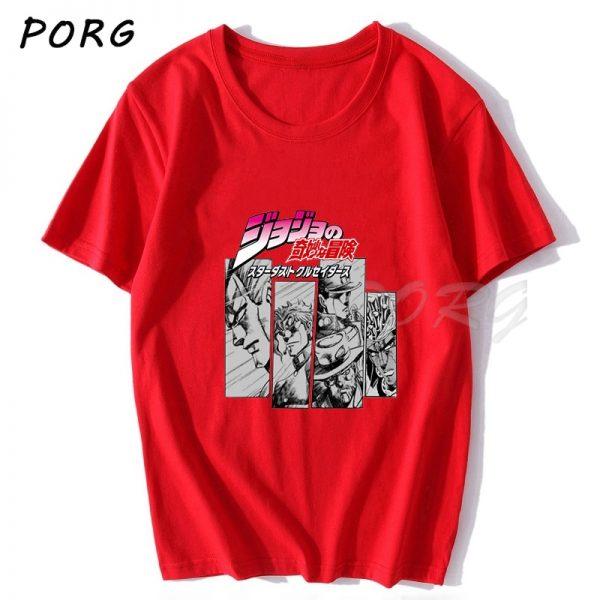 Jojos Bizarre Adventure Vintage Men Manga T shirt Harajuku Streetwear Cotton Camisetas Hombre Men Vaporwave Japan 2 - Jojo's Bizarre Adventure Merch