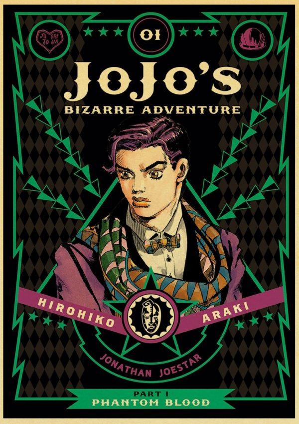 classic Anime JoJo s Bizarre Adventure JOJO Poster Action Anime retro Poster Painting Wall Art for 2 - Jojo's Bizarre Adventure Merch