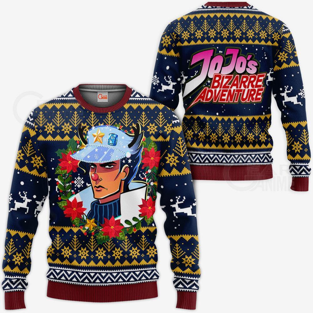 JJBA Sweater - Jotaro Kujo Ugly Christmas Sweater