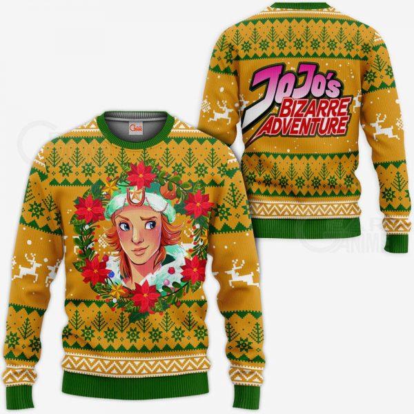 1104 AOP Jojo Characters Ugly Xmas VA Dio Brando 3 MK sweatshirt F 2BB - Jojo's Bizarre Adventure Merch