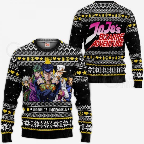 1105 AOP Jojo Ugly Sweater VA 3 MK sweatshirt F 2BB - Jojo's Bizarre Adventure Merch