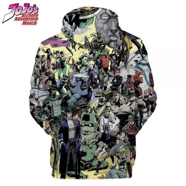 all jojo characters hoodie jojos bizarre adventure merch 341 - Jojo's Bizarre Adventure Merch