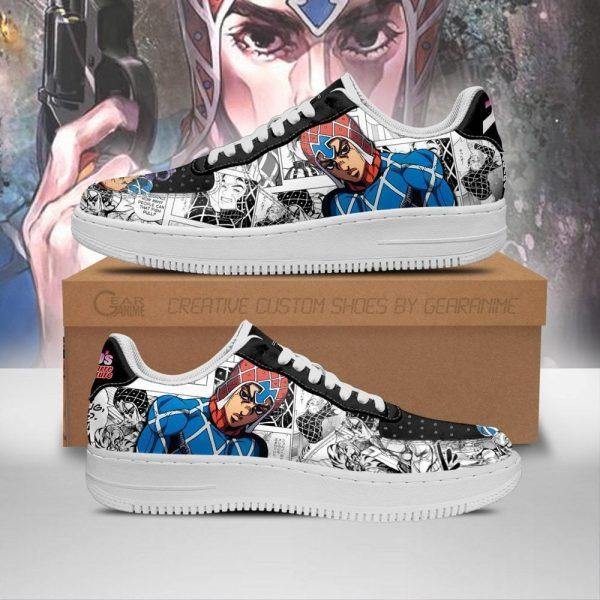 guido mista air force sneakers manga style jojos anime shoes fan gift pt06 gearanime - Jojo's Bizarre Adventure Merch