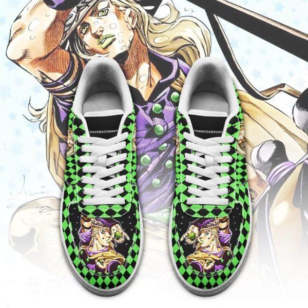 gyro zeppeli air force sneakers custom jojos anime shoes fan gift idea pt06 gearanime 2 - Jojo's Bizarre Adventure Merch