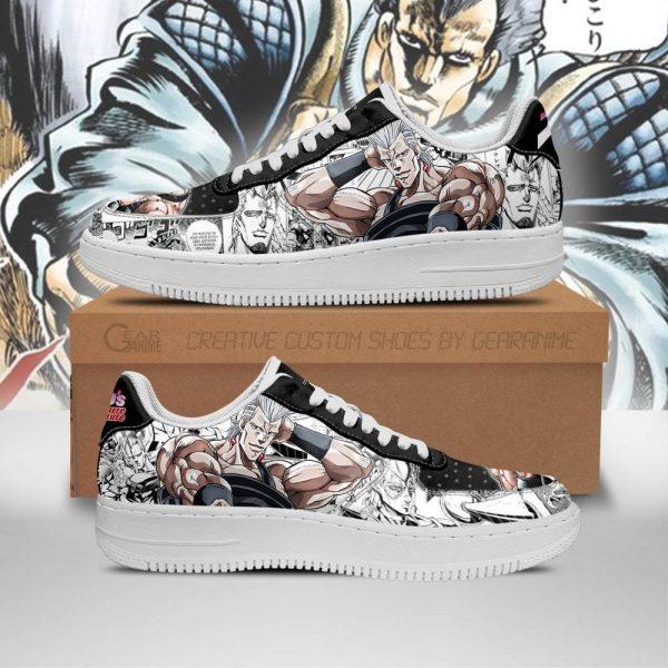 jean pierre polnareff air force sneakers manga style jojos anime shoes fan gift pt06 gearanime - Jojo's Bizarre Adventure Merch