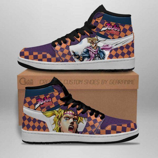 jojos bizarre adventure jordan sneakers caesar anthonio zeppeli shoes gearanime 3 - Jojo's Bizarre Adventure Merch