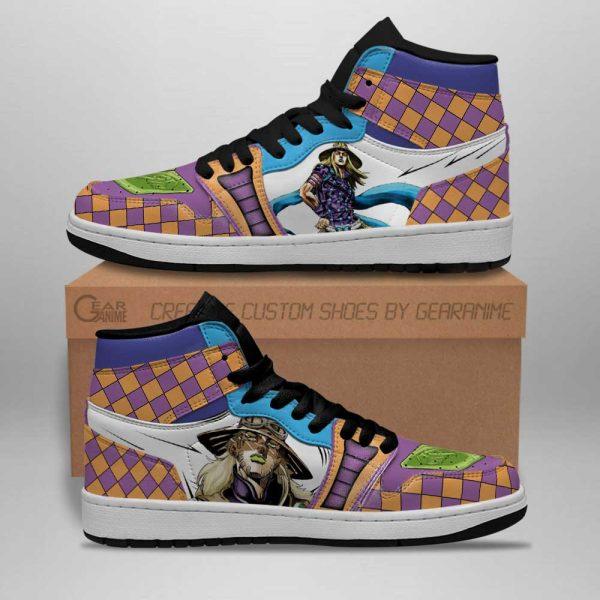 jojos bizarre adventure jordan sneakers gyro zeppeli anime shoes gearanime 2 - Jojo's Bizarre Adventure Merch