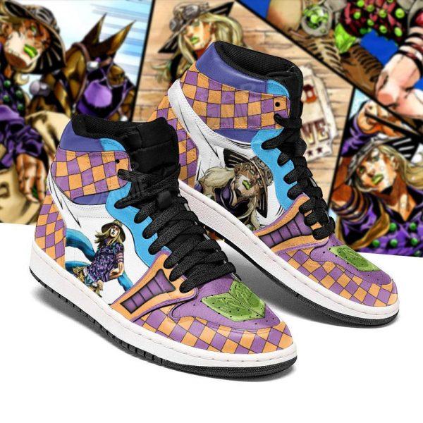 jojos bizarre adventure jordan sneakers gyro zeppeli anime shoes gearanime 3 - Jojo's Bizarre Adventure Merch