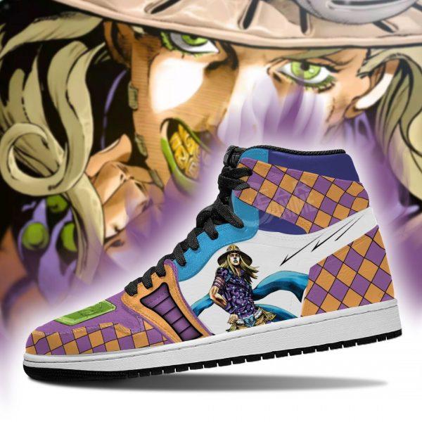 jojos bizarre adventure jordan sneakers gyro zeppeli anime shoes gearanime 4 - Jojo's Bizarre Adventure Merch
