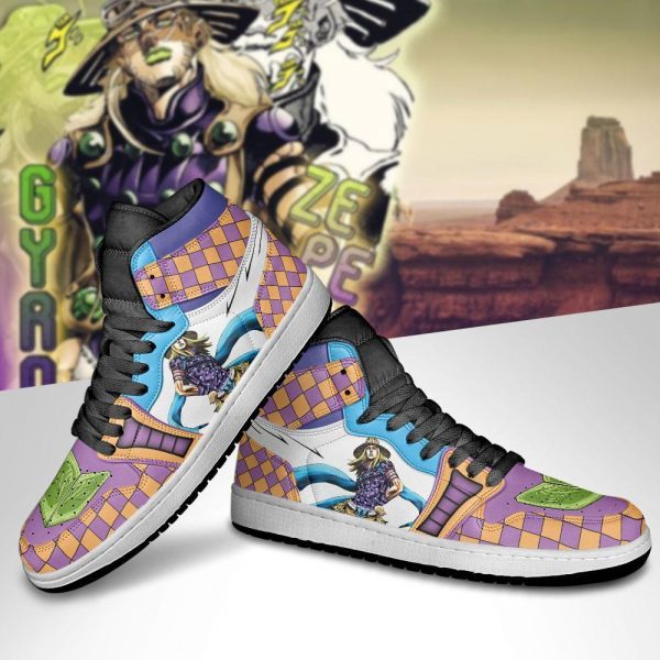 jojos bizarre adventure jordan sneakers gyro zeppeli anime shoes gearanime 5 - Jojo's Bizarre Adventure Merch