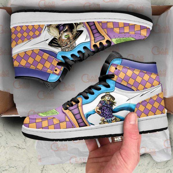 jojos bizarre adventure jordan sneakers gyro zeppeli anime shoes gearanime - Jojo's Bizarre Adventure Merch
