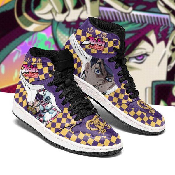 jojos bizarre adventure jordan sneakers josuke higashikata anime shoes gearanime 3 - Jojo's Bizarre Adventure Merch