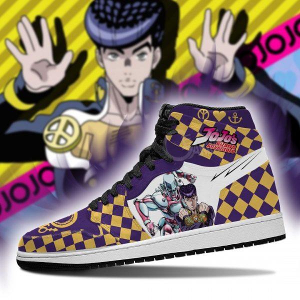 jojos bizarre adventure jordan sneakers josuke higashikata anime shoes gearanime 4 - Jojo's Bizarre Adventure Merch
