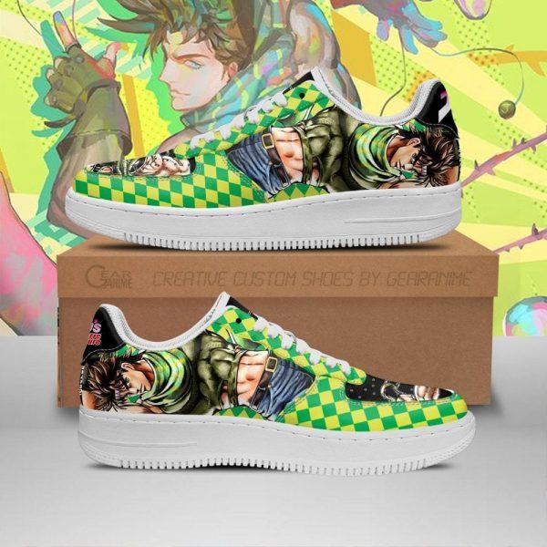 joseph joestar air force sneakers jojo anime shoes fan gift idea pt06 gearanime - Jojo's Bizarre Adventure Merch