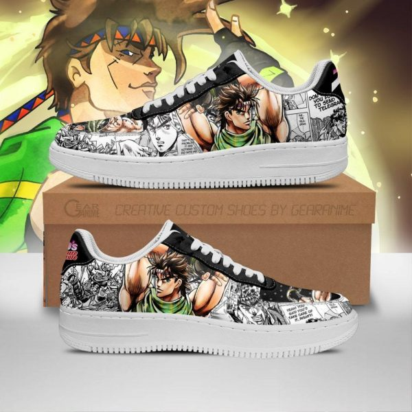 joseph joestar air force sneakers manga style jojos anime shoes fan gift pt06 gearanime - Jojo's Bizarre Adventure Merch