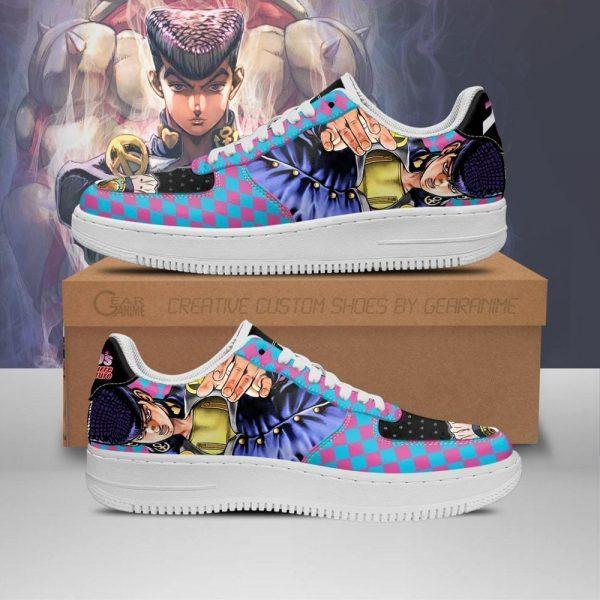 josuke higashikata air force sneakers jojo anime shoes fan gift idea pt06 gearanime - Jojo's Bizarre Adventure Merch