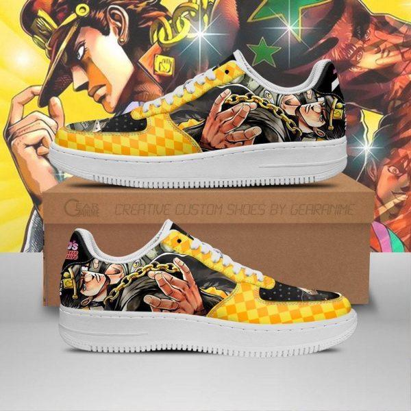 jotaro kujo air force sneakers jojo anime shoes fan gift idea pt06 gearanime - Jojo's Bizarre Adventure Merch