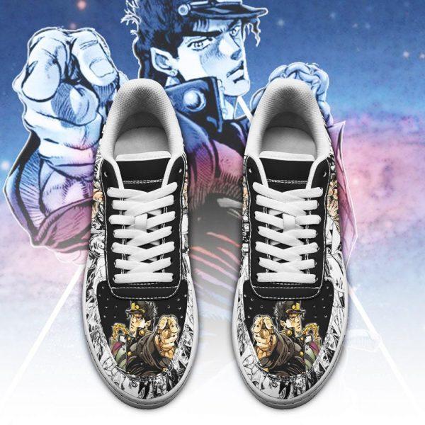 jotaro kujo air force sneakers manga style jojos anime shoes fan gift pt06 gearanime 2 - Jojo's Bizarre Adventure Merch