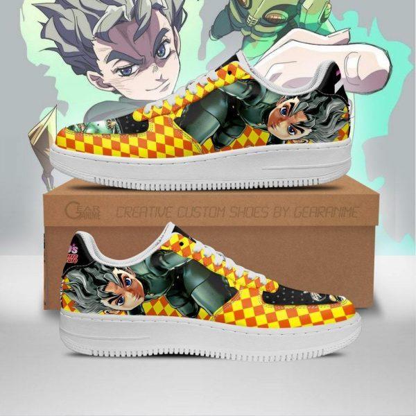koichi hirose air force sneakers jojo anime shoes fan gift idea pt06 gearanime - Jojo's Bizarre Adventure Merch