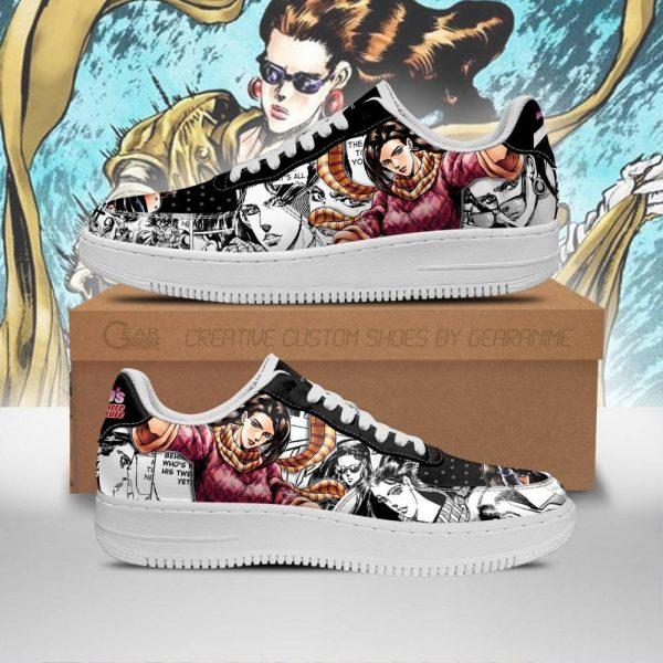 lisa lisa air force sneakers manga style jojos anime shoes fan gift pt06 gearanime - Jojo's Bizarre Adventure Merch