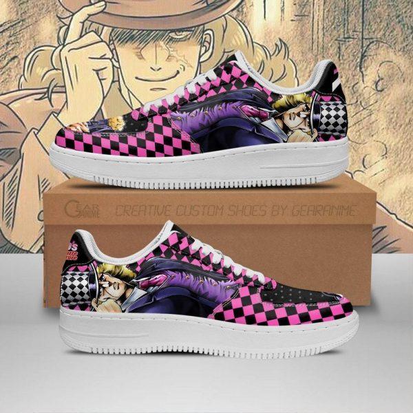 robert e o speedwagon air force sneakers jojo anime shoes fan gift idea pt06 gearanime - Jojo's Bizarre Adventure Merch