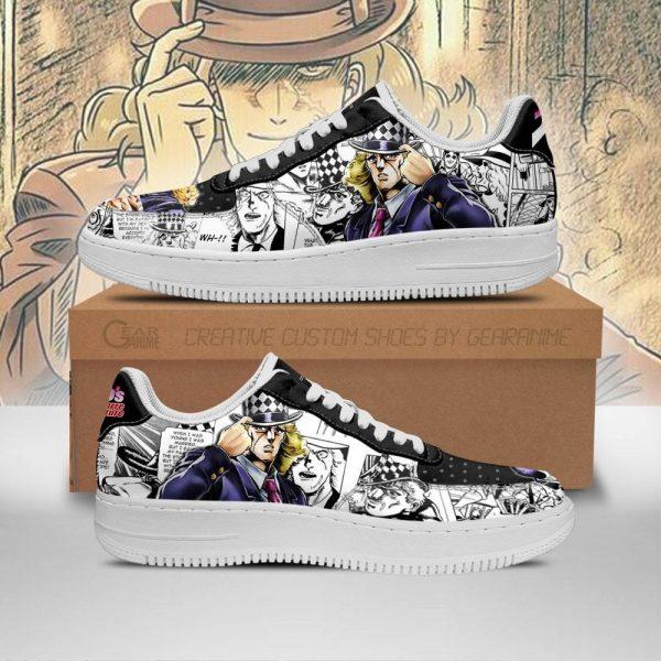 robert speedwagon air force sneakers manga style jojos anime shoes fan gift pt06 gearanime - Jojo's Bizarre Adventure Merch