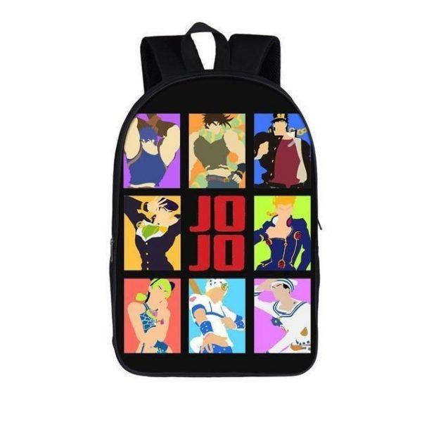 JoJo's Bizarre Adventure - All The Jojos Backpack Jojo's Bizarre Adventure Merch