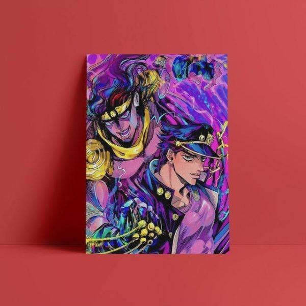 JoJo's Bizarre Adventure - Jotaro Kujo x Star Platinum Wall Art Jojo's Bizarre Adventure Merch