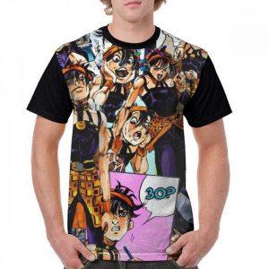 JoJo's Bizarre Adventure  Narancia Ghirga Collage T-Shirt Jojo's Bizarre Adventure Merch