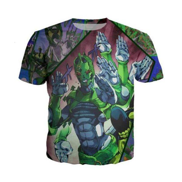 JoJo's Bizarre Adventure  C-Moon Humanoid Fighting Stand T-Shirt Jojo's Bizarre Adventure Merch