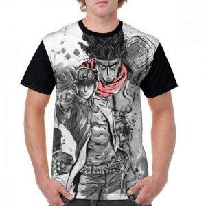 JoJo's Bizarre Adventure - Star Platinum x Jotaro Stylish T-shirt-jojo Jojo's Bizarre Adventure Merch