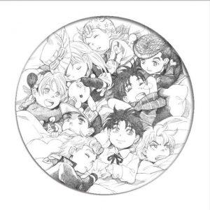JoJo's Bizarre Adventure  Chibi Main Characters Pin Jojo's Bizarre Adventure Merch