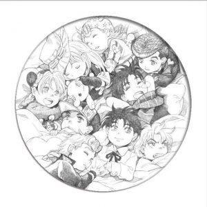 JoJo's Bizarre Adventure - Chibi Main Characters Pin Jojo's Bizarre Adventure Merch