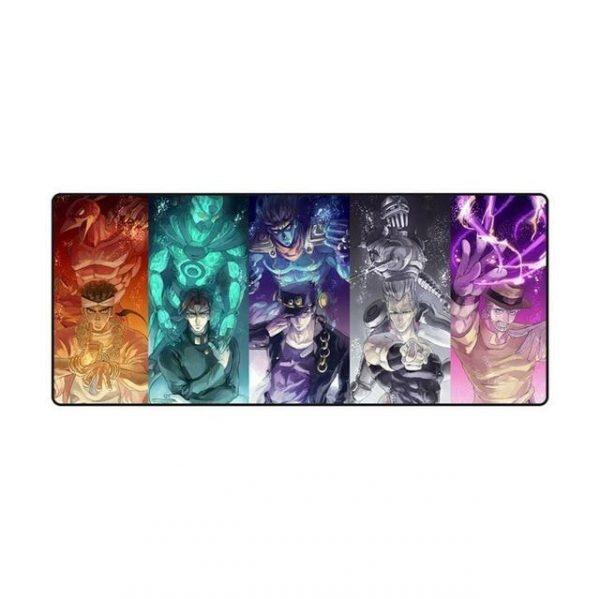 JoJo's Bizarre Adventure - Stardust Crusaders Main Characters and Stands Mouse Pad Jojo's Bizarre Adventure Merch