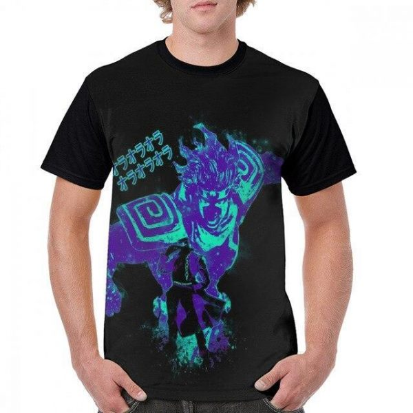 JoJo's Bizarre Adventure - Jotaro x Star Platinum Ora Ora T-shirt-jojo Jojo's Bizarre Adventure Merch